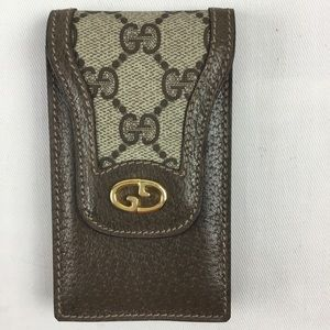 Gucci Flip Phone Leather Case with Snap *mint*